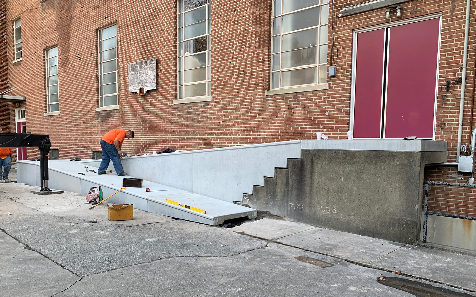 precast-concrete-ramp-installed-over-existing-steps